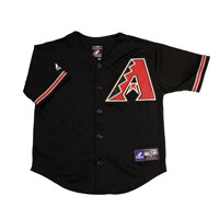 Arizona Diamondbacks Majestic Child Alternate Replica Baseball Jersey (Black)