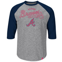 Atlanta Braves Fast Win 3 Quarter Sleeve T-Shirt