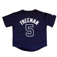 Atlanta Braves Freddie Freeman Majestic Child Alternate Replica Baseball Jersey