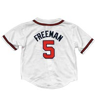 Atlanta Braves Freddie Freeman Majestic Child Home Replica Baseball Jersey