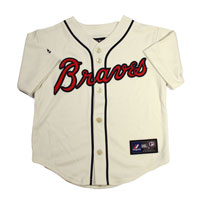 Atlanta Braves Majestic Child Alternate Replica Baseball Jersey (Ivory)