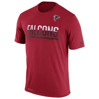Atlanta Falcons NFL Nike Team Practice Light Speed Dri-FIT T-Shirt