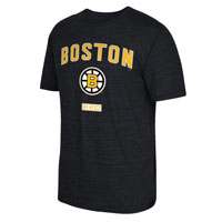 Boston Bruins CCM Retro Stitches Tri-Blend T-Shirt