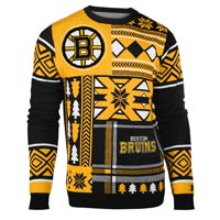 Boston Bruins NHL 2015 Patches Ugly Crewneck Sweater