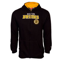 Boston Bruins Youth NHL Stated Embroidered Full Zip Hoodie – Black