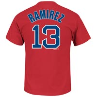 Boston Red Sox Hanley Ramirez MLB Player Name & Number T-Shirt (Red)