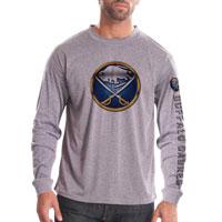 Buffalo Sabres Chrome FX Long Sleeve T-Shirt (Heather Pebble)