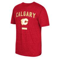 Calgary Flames CCM Retro Stitches Tri-Blend T-Shirt