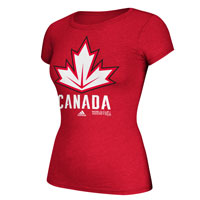 Canada Hockey World Cup Of Hockey Women's Cap Sleeve Primary Logo Go To T-Shirt