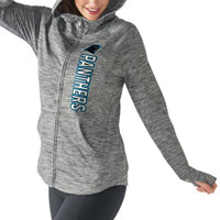 Carolina Panthers Women's Recovery Full Zip Hoodie