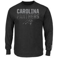Carolina Panthers Written Permission Long Sleeve NFL T-Shirt (Black)