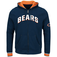 Chicago Bears Anchor Point Full Zip NFL Hoodie