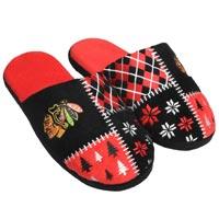 Chicago Blackhawks Men's Ugly Sweater Knit Slippers