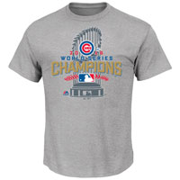 Chicago Cubs MLB Official 2016 World Series Champions Locker Room T-Shirt