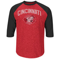 Cincinnati Reds Cooperstown Don't Judge 3/4 Raglan T-Shirt