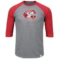Cincinnati Reds Cooperstown Two To One Margin 3/4 Raglan T-Shirt