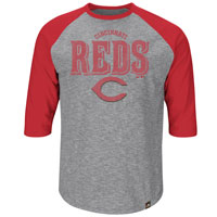 Cincinnati Reds Fast Win 3 Quarter Sleeve T-Shirt