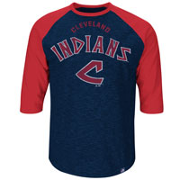 Cleveland Indians Cooperstown Don't Judge 3/4 Raglan T-Shirt