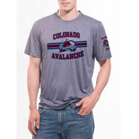 Colorado Avalanche Bar Stripe Performance FX T-Shirt (Heather Pepple)