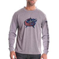 Columbus Blue Jackets Chrome FX Long Sleeve T-Shirt (Heather Pebble)