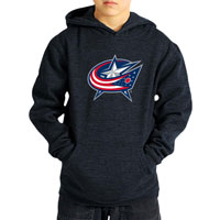 Columbus Blue Jackets YOUTH Suede Logo Hoodie