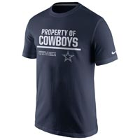 Dallas Cowboys NFL Nike 2016 Property Of T-Shirt
