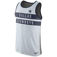 Dallas Cowboys NFL Nike Stripe Tri-Blend Tank Top