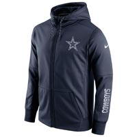 Dallas Cowboys NFL Sideline Circuit Full Zip Performance Hoodie