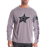 Dallas Stars Chrome FX Long Sleeve T-Shirt (Heather Pebble)