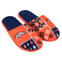 Denver Broncos Men's Ugly Sweater Knit Slippers