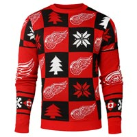Detroit Red Wings NHL Patches Ugly Crewneck Sweater