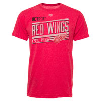 Detroit Red Wings Ramp Lightweight Heathered Bi-Blend T-Shirt
