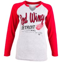 Detroit Red Wings Women's Jura Long Sleeve V-Neck T-Shirt