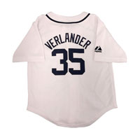 Detroit Tigers Justin Verlander Majestic Child Home Replica Baseball Jersey