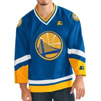 "Golden State Warriors Starter NBA ""Crossover"" Hockey Jersey"