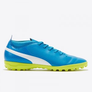 Puma One 17.4 Astroturf Trainers – Atomic Blue/White/Safety Yellow