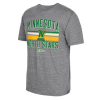 Minnesota North Stars CCM Retro Classic Stripe Tri-Blend T-Shirt