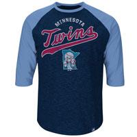 Minnesota Twins Cooperstown Don't Judge 3/4 Raglan T-Shirt