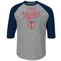 Minnesota Twins Fast Win 3 Quarter Sleeve T-Shirt