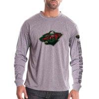 Minnesota Wild Chrome FX Long Sleeve T-Shirt (Heather Pebble)