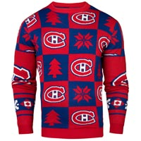 Montreal Canadiens NHL Patches Ugly Crewneck Sweater
