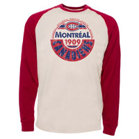 Montreal Canadiens Spheric Raglan Long Sleeve Jersey T-Shirt