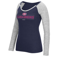 Montreal Canadiens Women's Beveled Shine Long Sleeve T-Shirt