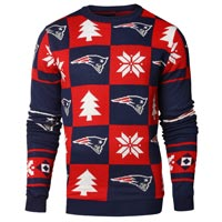 New England Patriots NFL Patches Ugly Crewneck Sweater