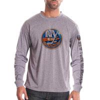 New York Islanders Chrome FX Long Sleeve T-Shirt (Heather Pebble)