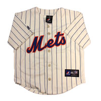 New York Mets Majestic Child Alternate Replica Baseball Jersey (Ivory)