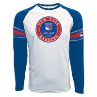New York Rangers Face-Off FX Raglan Long Sleeve T-Shirt