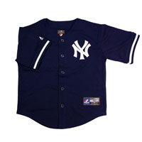 New York Yankees Majestic Child Alternate Replica Baseball Jersey (Navy)