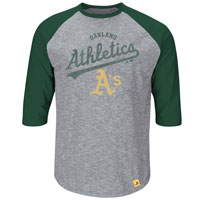 Oakland Athletics Fast Win 3 Quarter Sleeve T-Shirt