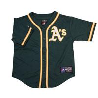 Oakland Athletics Majestic Child Alternate Replica Baseball Jersey (Green)